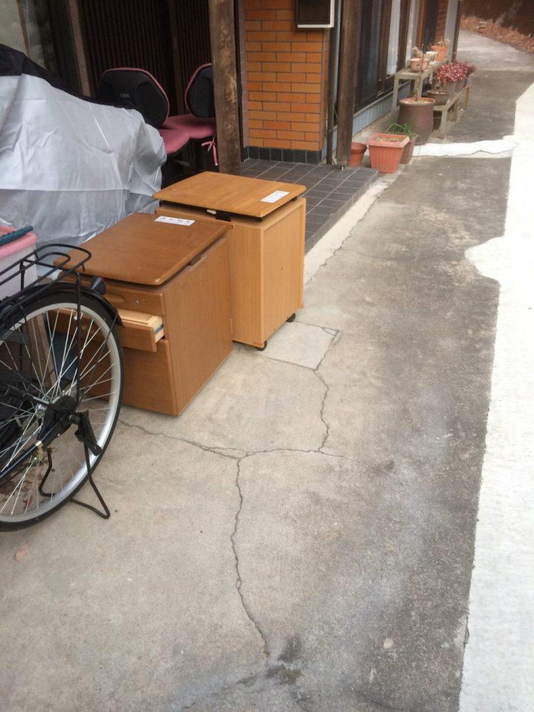 【関市】学習机の回収