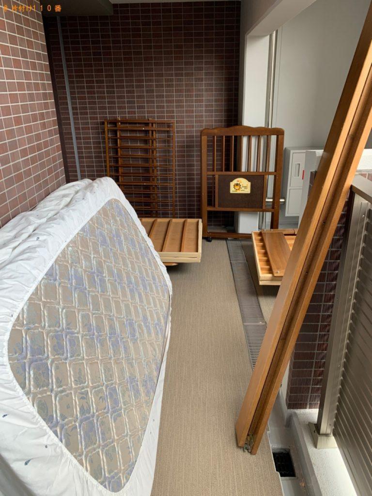 【中津川市】マットレス付きシングルベッドの回収・処分ご依頼