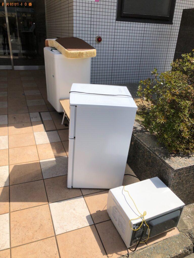 冷蔵庫、洗濯機、椅子、ローテーブル、炊飯器等の回収